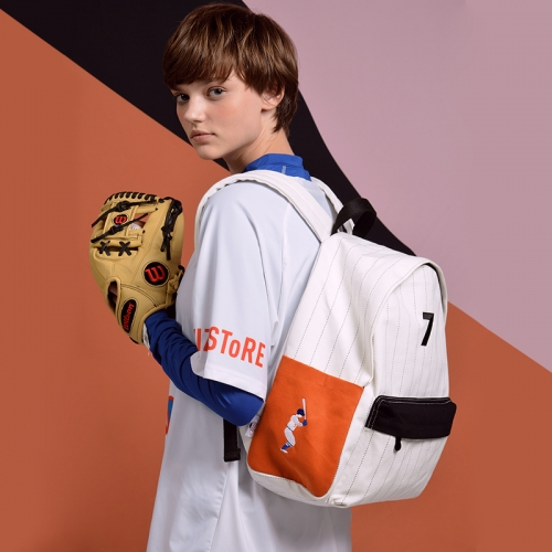 HEY KOREAN STYLE BASEBALL LOGO BACKPACKS FOR MEN & WOMEN