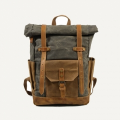 HEY VINTAGE OIL WAXED WATERPROOF CANVAS BACKPACKS